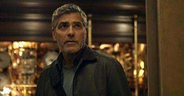 """Tomorrowland"" stars George Clooney as the grown-up version of a boy inventor and Britt Robertson as a high school brainiac."